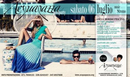 Pool party cena a bordo piscina senigallia an 06 07 2013 for Cena in piscina