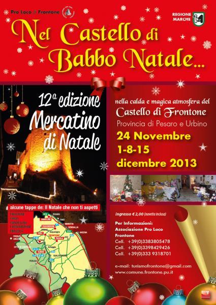 Nel castello di babbo natale frontone pu 24 11 2013 for Castello di frontone