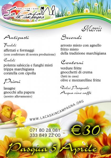 Ancona pranzo di pasquetta 6 aprile 2015 agriturismo la for Pranzo di pasqua in agriturismo lombardia