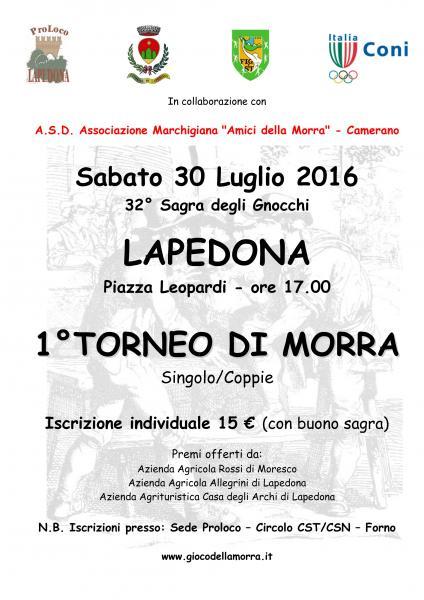 1° Torneo di Morra - Lapedona
