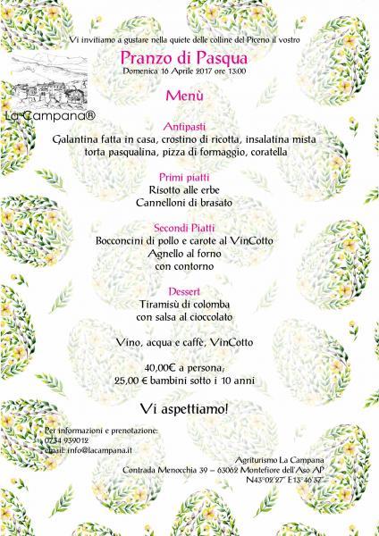 Tre notti in agriturismo e pranzo di pasqua montefiore for Pranzo di pasqua in agriturismo lombardia