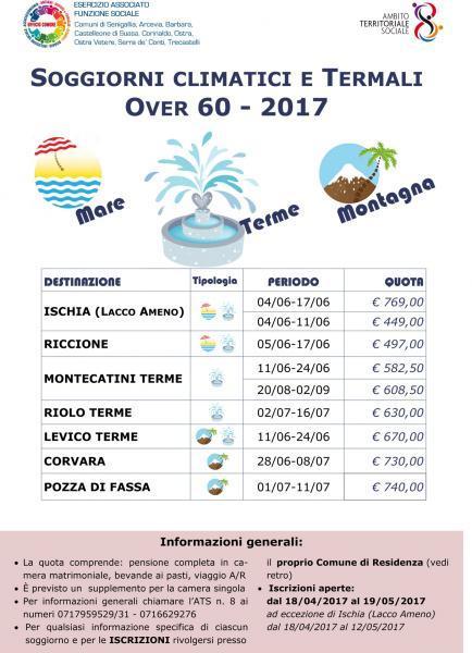 Iscrizioni ai Soggiorni Climatici e Termali, Senigallia AN, 14/05 ...