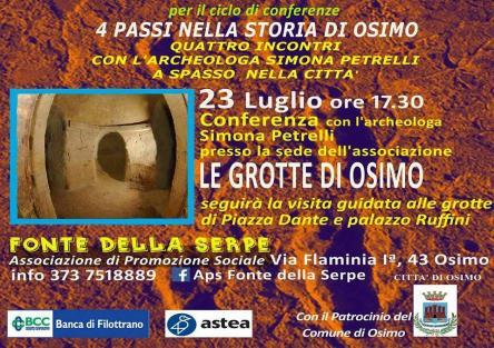 Le grotte di Piazza Dante a Osimo, Osimo AN, 23/07/2017