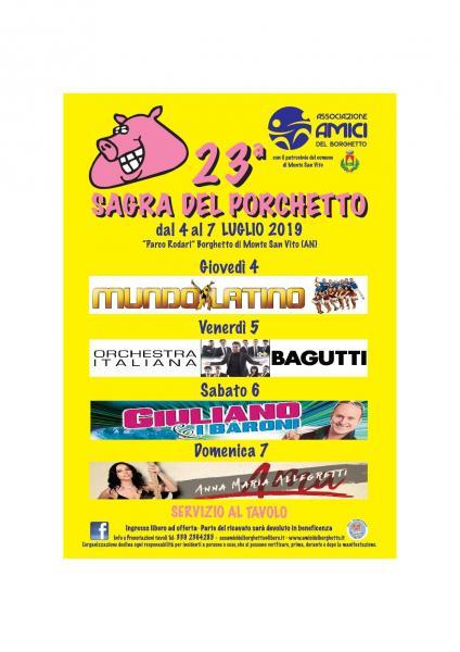 Orchestra Italiana Bagutti Calendario Serate 2019.23 Sagra Del Porchetto Monte San Vito An 04 07 2019