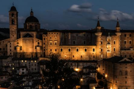 Urbino by night